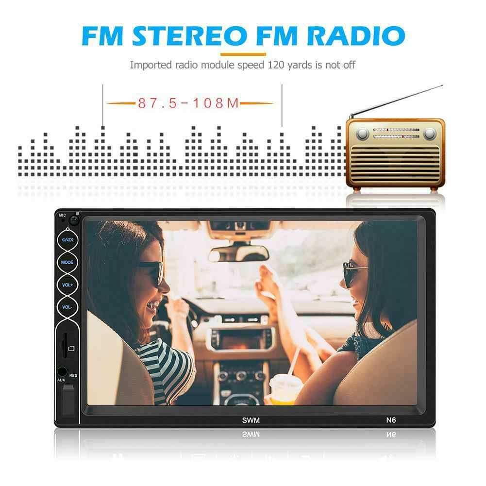 SWM N6 Double 2 DIN Mobil Stereo MP5 Player 7 Inch Touch Screen Bluetooth USB AUX Radio Receiver Di DASH kepala Unit + Kamera