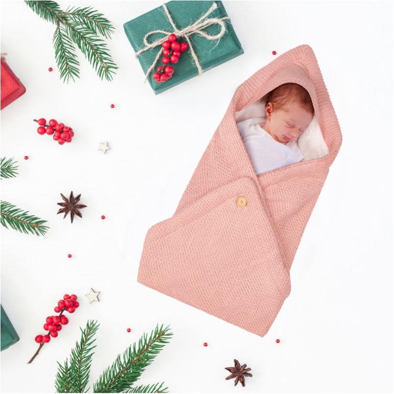 Теплое детское одеяло; мягкий спальный мешок для малышей; муфта для ног; Хлопковый вязаный конверт; пеленка для новорожденных; аксессуары