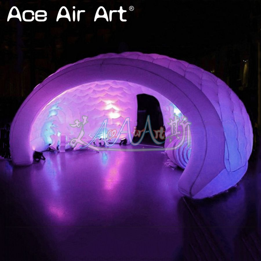 8m diameter show tent inflatable <font><b>luna</b></font> dome,club/exhibition <font><b>luna</b></font> booth with blower for sale image