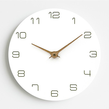 Silent Classical Wall Clock Non Ticking 12 inch Accurate Sweep Movement Wood Decorative Wall Art Clock for Living Room