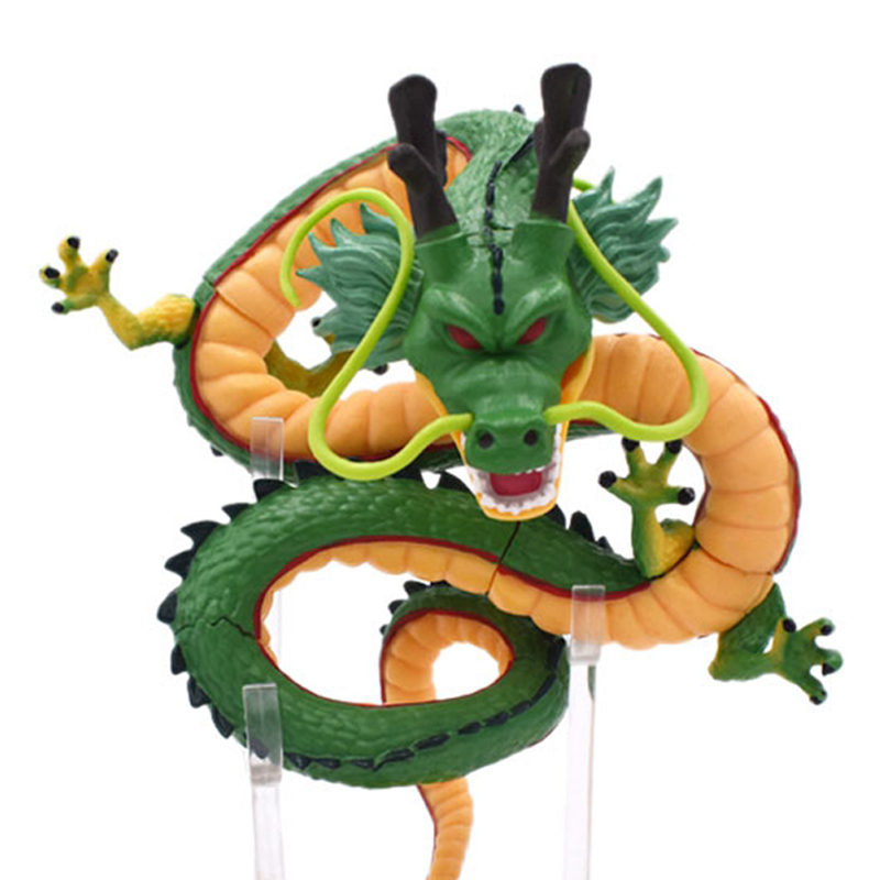 16cm Dragon Ball Z Action <font><b>Figures</b></font> Green Shenron <font><b>Dragonball</b></font> Z <font><b>Figures</b></font> <font><b>Set</b></font> Esferas Del Dragon Shelf Figuras Model Toy Collection image