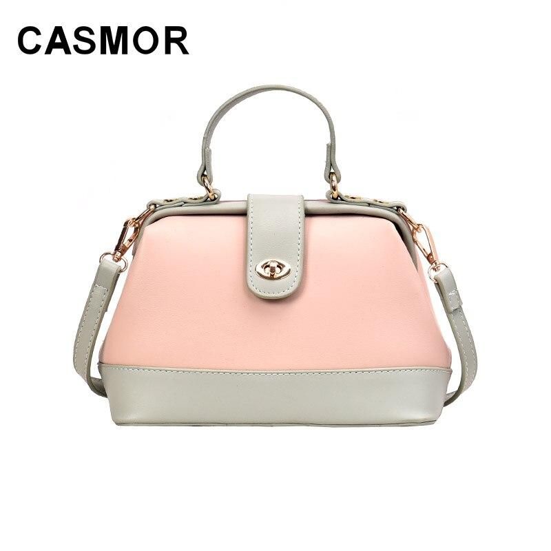 Luxury Women Handbags Messenger-Bags Female High-Quality Lady PU CASMOR Doctor