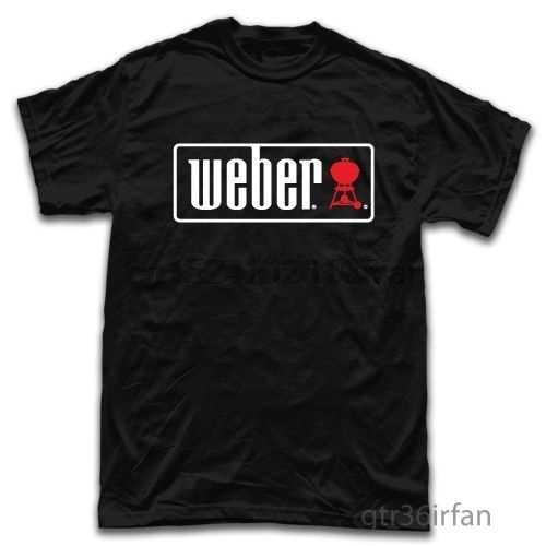 Weber Outdoor Charcoal Grills BBQ Men Round Neck Tops(1)