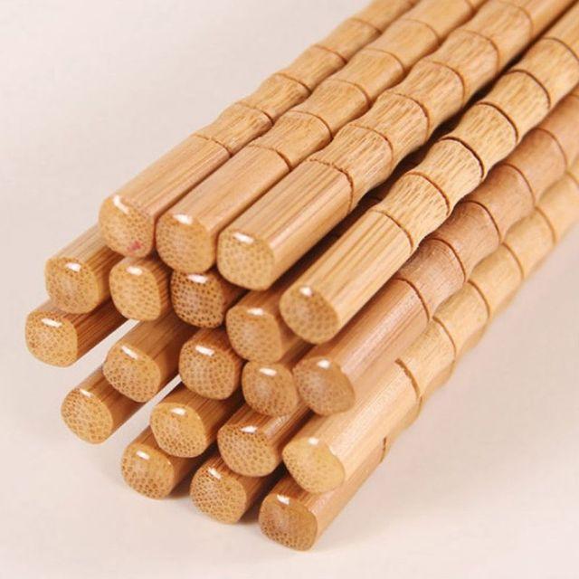 Фото 5 пар ручная работа натуральные бамбуковые палочки для еды здоровая цена