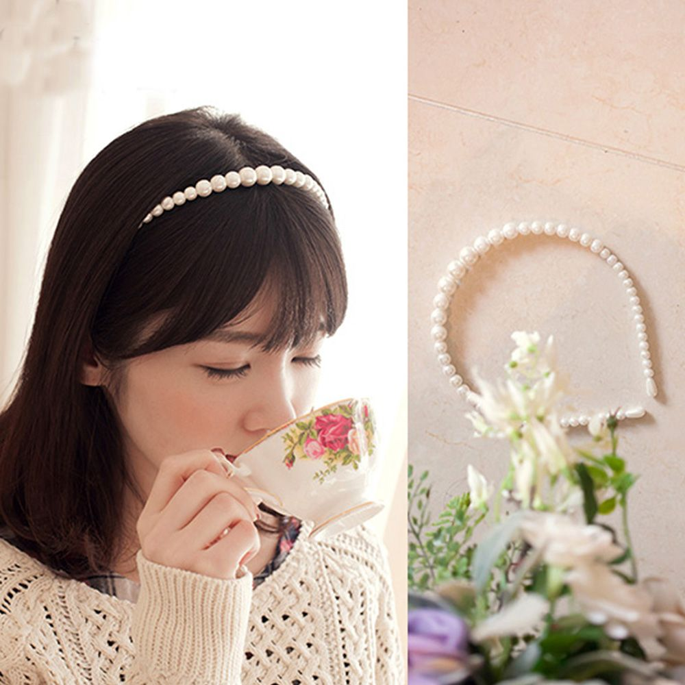 New Korean Sample Design Imitation Pearl Hair Band Girls Hair Accessories Women Headband Wedding Party Bridal Hair Hoop