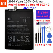 100% original xiaomi bn54 bateria de substituição para xiaomi redmi nota 9 redmi 10x 4g telefone autêntico baterias 5020mah + ferramentas gratuitas