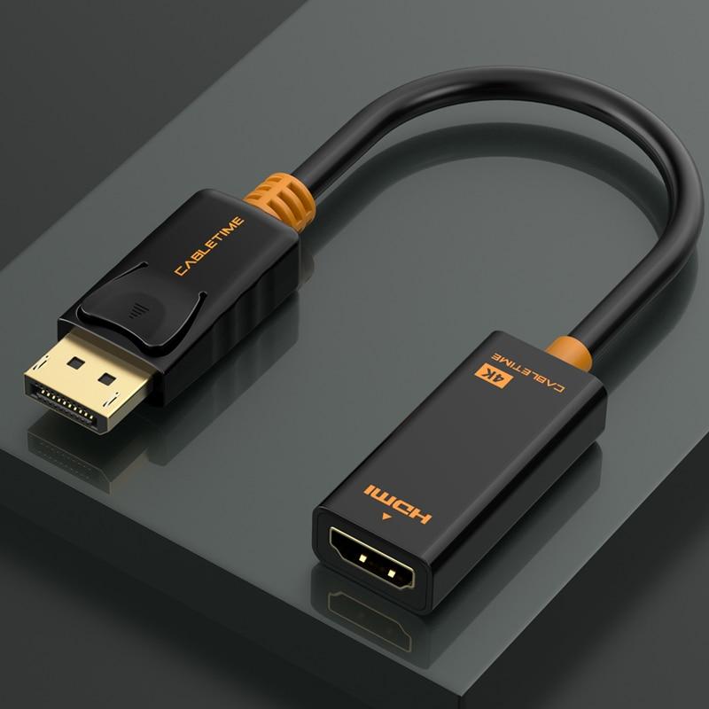 Cabletime Dp Naar Hdmi-Compatibel M/F Converter 4K/2K Display Port Naar Hdmi-compatibel Adapter Displayport Hdmi 4Kfor Macbook N007 2
