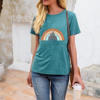 Damska koszulka z krótkim rękawem damska koszulka z krótkim rękawem koszulka z krótkim rękawem Top damska koszulka Streetwear topy koszulki damskie Hot tanie i dobre opinie anqian REGULAR Z dzianiny CN (pochodzenie) Lato COTTON NONE tops Z KRÓTKIM RĘKAWEM SHORT Dobrze pasuje do rozmiaru wybierz swój normalny rozmiar