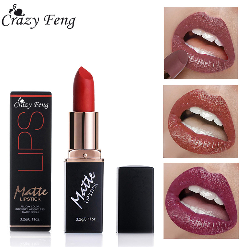 12 Colors Matte Lipsticks Waterproof Matte Lipstick Lip Sticks Cosmetic Easy to Wear Matte Batom Makeup Lipstick 1
