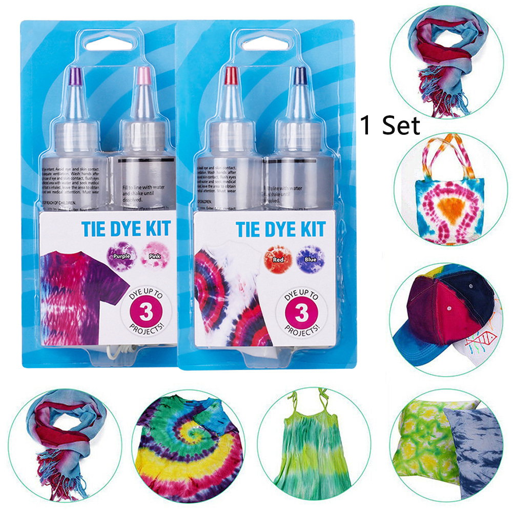 Cold Water Colorful One Step Art Craft Permanent With Pigment Fabric Decorating Non Toxic DIY Textile Paint Tie Dye Kit