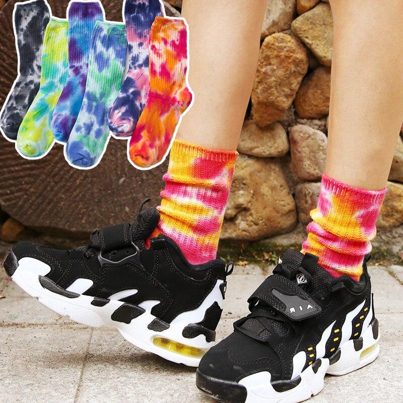 2020 Cotton Skate Socks Men Women Sock Knee-high Funny Cycling Running Hiking Tie Dye Sox  Harajuku Hip Hop Happy Socks HOT