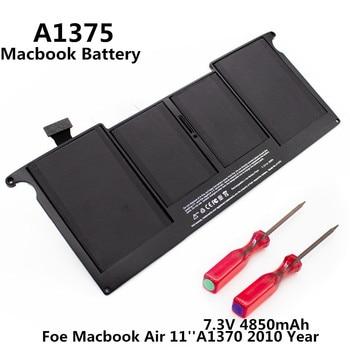 100% Original 7.3V 4850mAh Notebook Laptop A1375 Battery FOR Apple Macbook Air 11'' A1370 2010 Year MC506 MC505 MC506LL/A 1