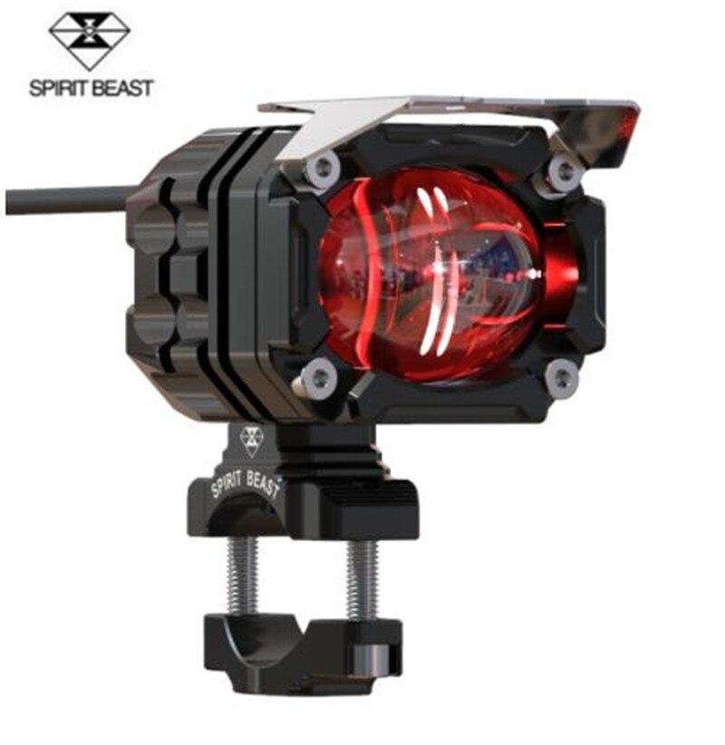 SPIRIT BEAST Motorcycle Lighting Accessories Headlight Headlamps LED Super Bright Motocross Auxiliary Strobe Lights