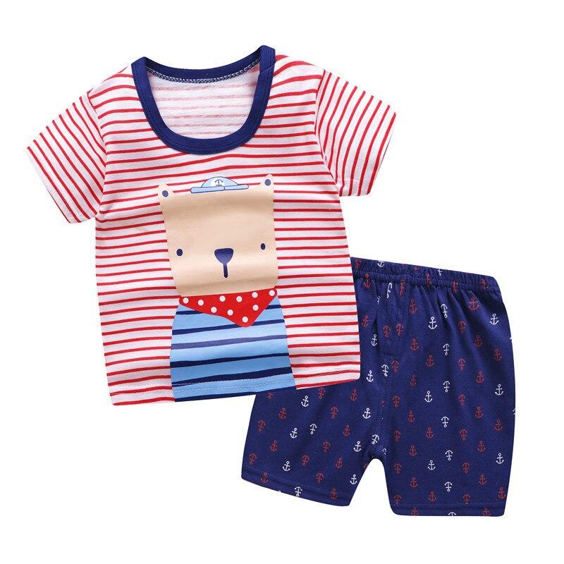 2020 sommer baby kleidung set 100% baumwolle cartoon bär kinder körper anzug kinder kleidung set kostüm für jungen und mädchen einzelhandel