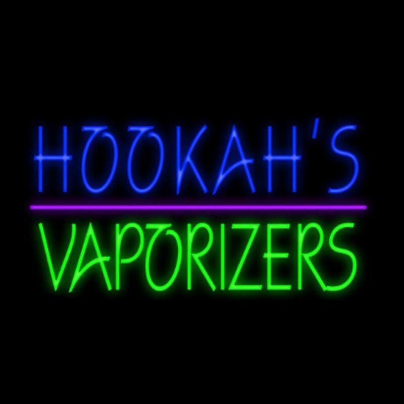 Кальянные испарители дымовых магазинов, неоновая вывеска для кальянов, Настоящая стеклянная трубка, бар KTV, пользовательский рекламный дис