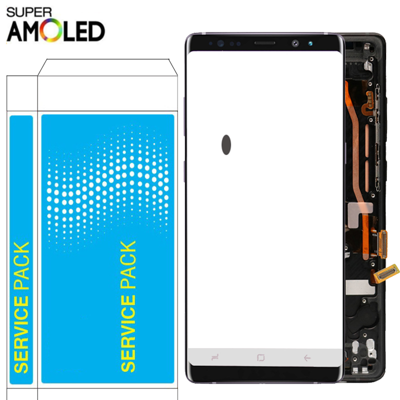 Original Note 8 LCD For Samsung Galaxy Note 8 LCD With Frame Super Amoled SM-N950F N950F/DS Display Touch Screen Spot