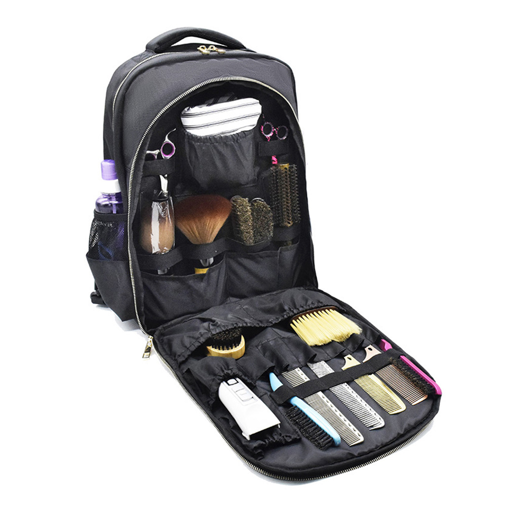 Large Capacity Barber Backpack With Pocket Salon Carrying Stylist Hairdressing Tool Bag Cosmetic Organizer Cutting Product