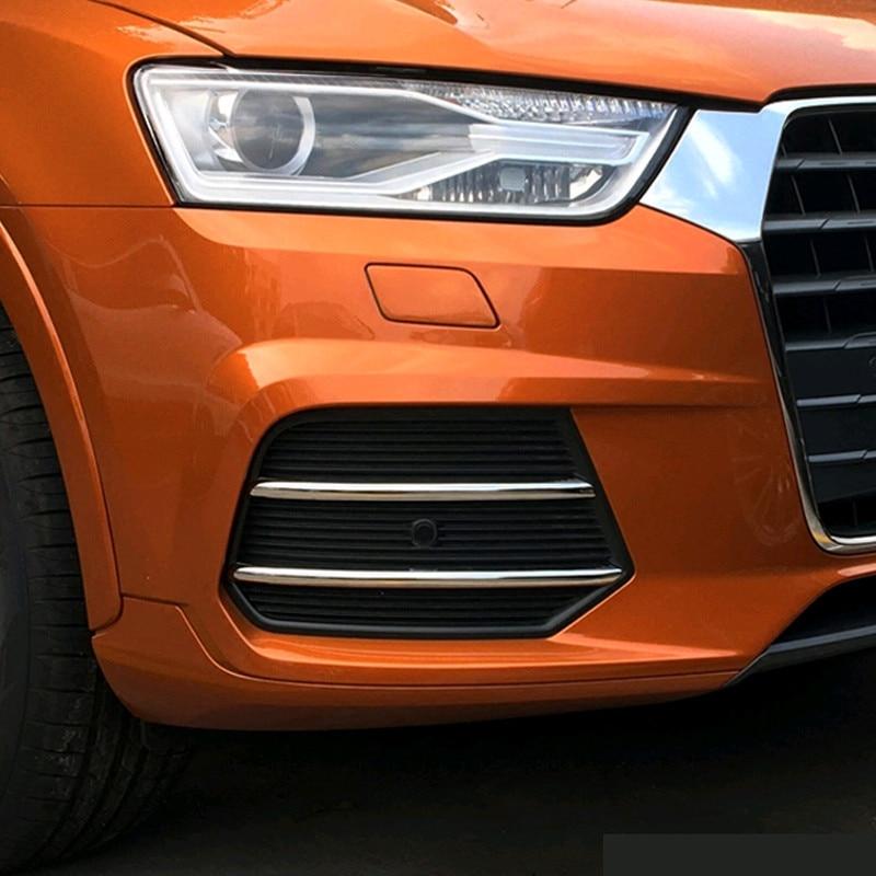 Tira de embellecedor decorativo para faro antiniebla delantero de coche, cromado, 4 Uds., para Audi Q3 2003-2012, accesorios exteriores, pegatinas modificadas