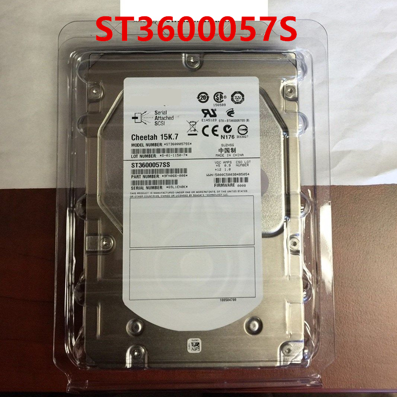 """New HDD For Seagate 600GB 3.5"""" SAS 6 Gb/s 64MB 15000RPM For Internal HDD For Server HDD For ST3600057S 1"""