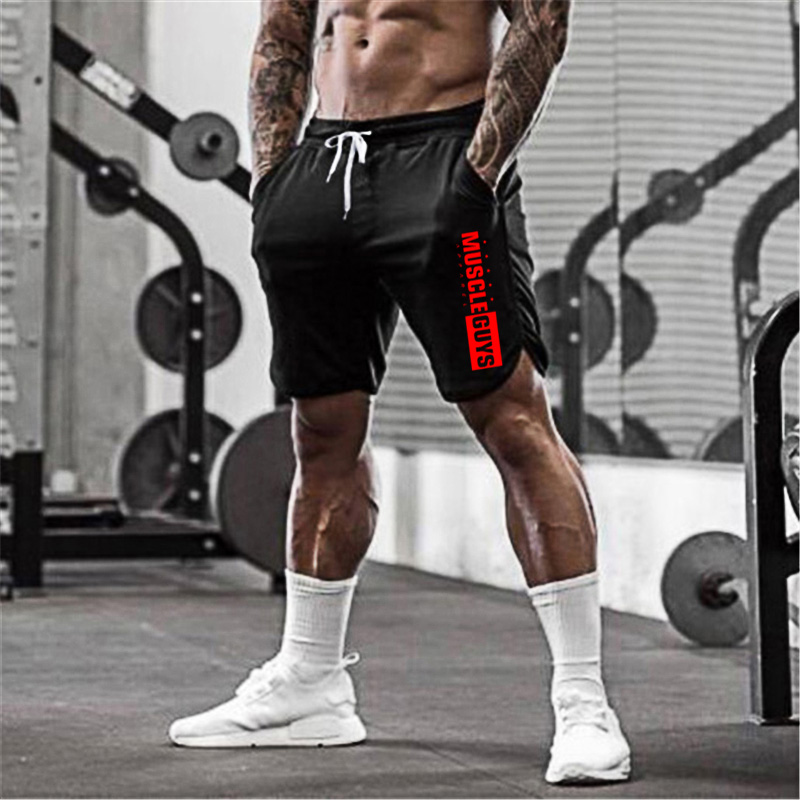 Muscleguys Gyms Shorts Mens Mesh Short Trousers Casual Joggers Shorts Bodybuilding Sweatpants Fitness Men Workout Acitve Shorts