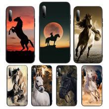 Handsome Horse Animal Luxury Unique Phone Case For Huawei P Y Nova mate 20 30 10 40 pro lite smart Cover Fundas Coque