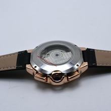 Tourbillon Mens Watch Top Brand Luxury Belt Watch Men Automatic Mechanical Wristwatch Skeleton Sport Male Clocks relogio CASENO