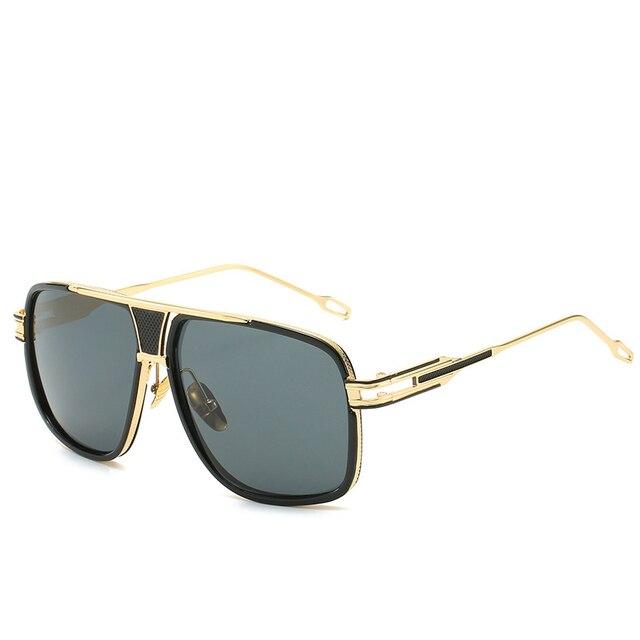 Gafas de sol clásicas de lujo para hombre, lentes de sol de marca a la moda, lentes de sol para dama, lentes de espejo Retro, diseño cuadrado Vintage 2