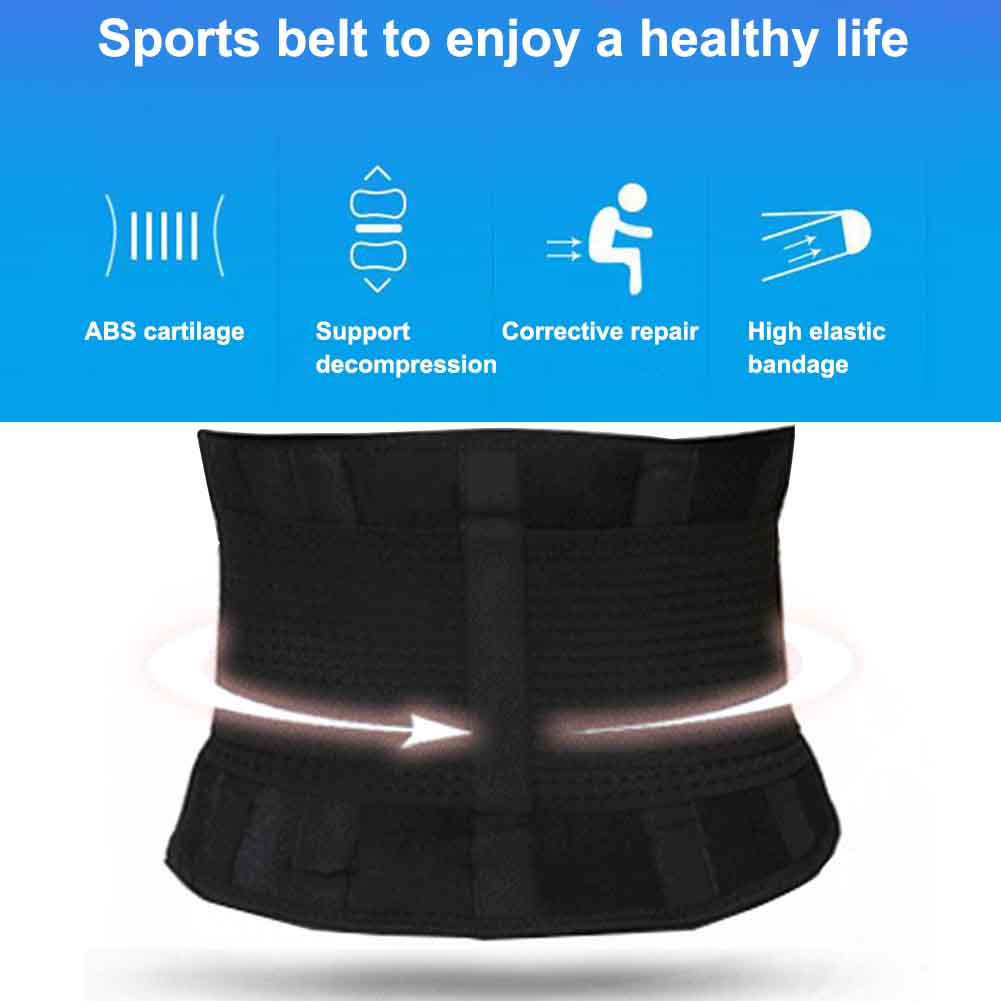 Women Men Training Gym Adjustable Easy Wear Sweat Wrap Back Weight Loss Workout Slimming Waist Trimmer Supporting Body Shaper
