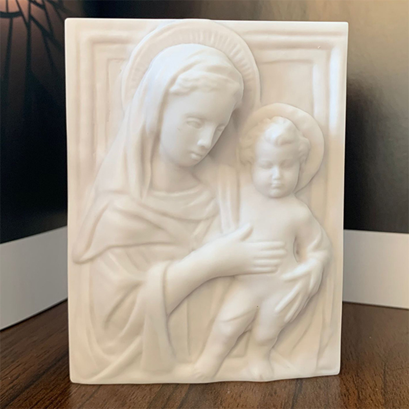 Virgin Mary Shaped Soap Mold Silicone Mould DIY Tool Handmade Soap Molds