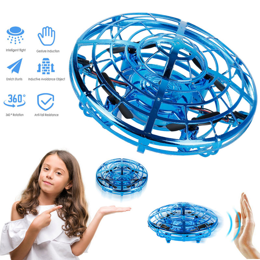 Magic Hand UFO Flying Aircraft Drone Toys Electric Electronic Toy LED Mini Induction Drone UFO toys Kids Xmas Brithday Gifts