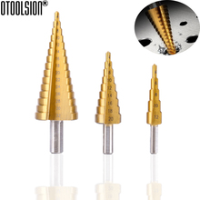 4-12/20/32mm Step Drill Bits HSS Steel Titanium Coated Step Cone For Metal Wood Tools  Accessories Hole Cutter Step Drill Bit