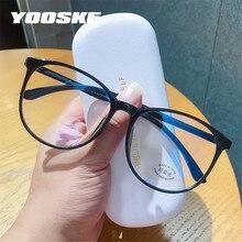 YOOSKE – lunettes Anti-lumière bleue pour hommes et femmes, montures rondes et transparentes, lunettes de jeux optiques pour ordinateur