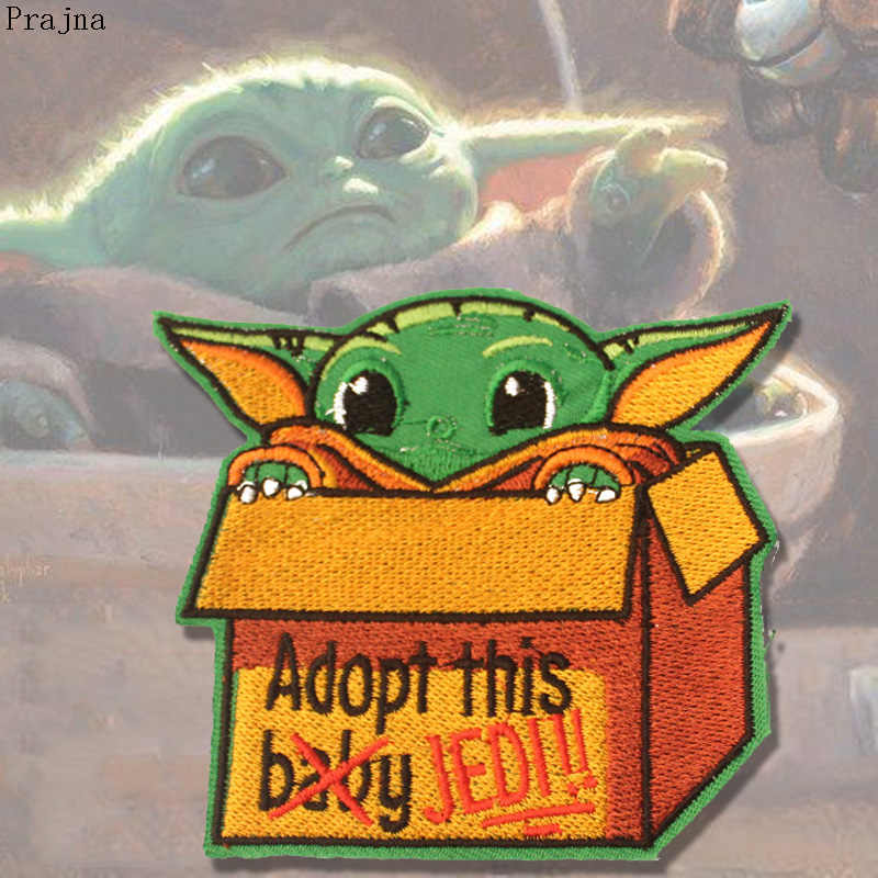 Prajna Star Wars Mandalor Patch Stalker fer sur patchs brodés bébé Yoda patchs pour vêtements Parches Hippie Anime Badge