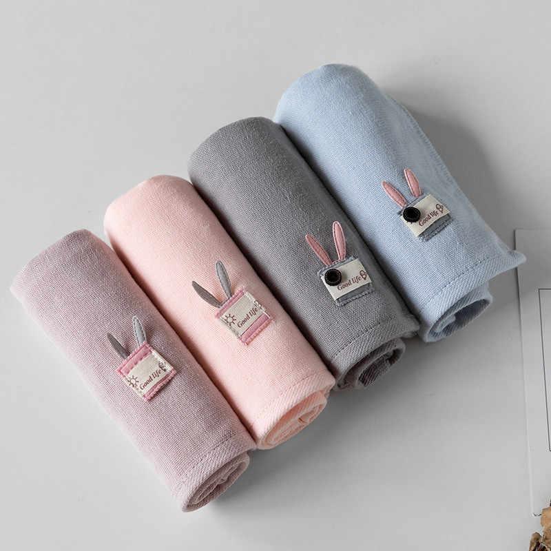 1 Pc 25x50cm Cartoon Nette Teetasse Kaninchen Gaze Baumwolle Saugfähigen Kind Kind Baby Hand Gesicht Waschen Handtuch