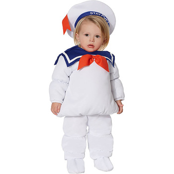 Ghost Busters StayPuft Marshmallow Man Cosplay Costume Kids Boy Girl Ghostbusters Cosplay suit Halloween Party Costumes prop 1