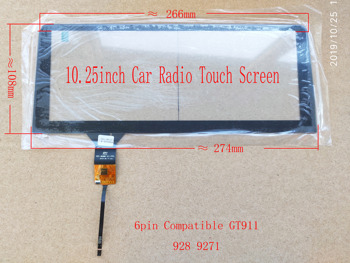 10.25/10.3 Inch Car Radio Touch Screen For Bmw Audi benz 6pin GT911 928 6pin image