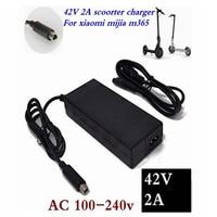 42 v 2a menor preço scooter elétrico carregador adaptador para xiaomi mijia m365 ninebot es1 es2 scooter elétrico acessórios carregador|Carregadores| |  -