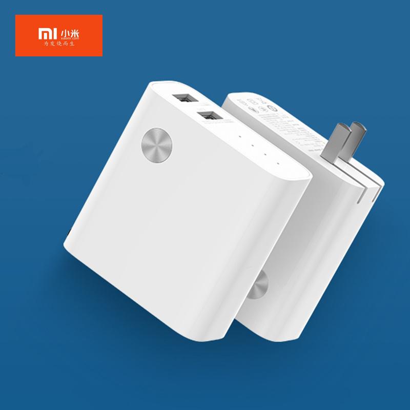 Original Xiaomi two-in-one power bank (charger) 5000mAh sufficient power / multi-protocol fast charge / USB port output