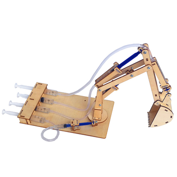 Hydraulic Excavator DIY Student Technology Small Production Science and Education Toy Model Science Experiment Toy diy manual technology small production creative vacuum cleaner student science experiment manual assembly of toy materials