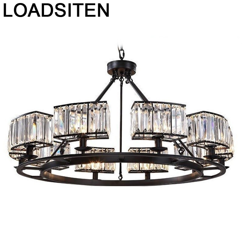Lampe à suspendre en cristal industrielle Suspension Lustre E Pendente Para Sala De Jantar Lampen Luminaire Suspendu moderne lampe à suspendre