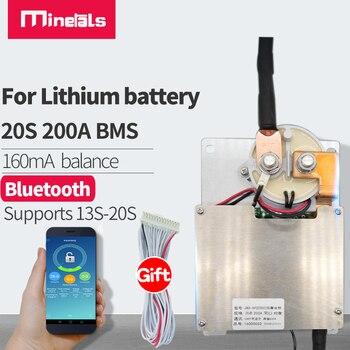 Bms 13s a 20s con contactor de potencia integrado y bluetooth, LFP4, Li-Ion, 72V, protección de carga y descarga, BMS inteligente, 16s 1