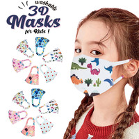 6/12Pcs Children Cartoon Face Mask Kids Boys Girls Washable Cartoon Lovely Mask Cover mascarilla reutilizable Dropshipping
