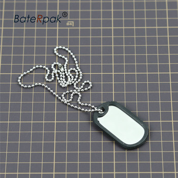 Military army Identity tag,BateRpak jewelry pendants & necklaces ,50.3*28.3*0.4mm Tag plate+Silencer ring+55cm chain 100pcs