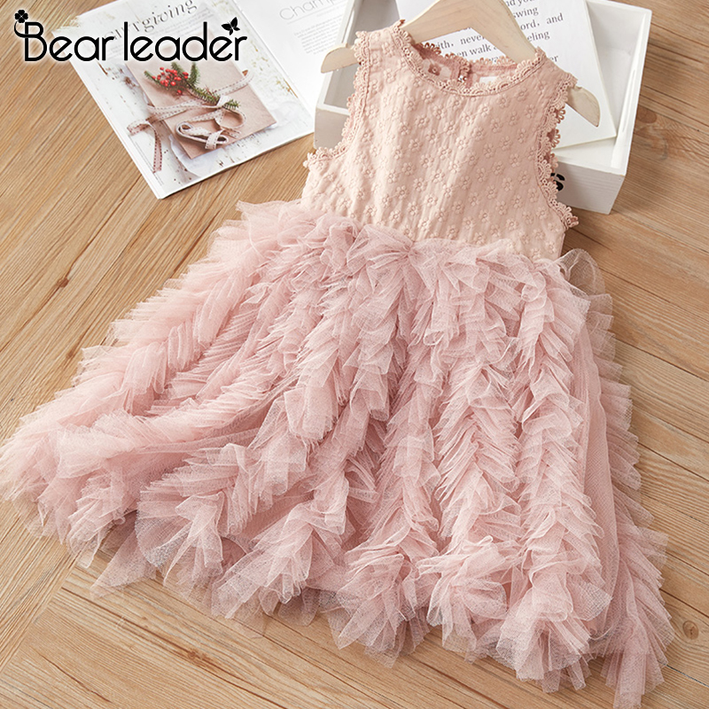 Bear Leader Girls Party Dress New Summer Kids Girl Princess Dresses Layered Dress Lovely Costumes Children Outfits Clothing 3 7Y