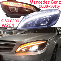 2008~2011y car bumper head light for Mercedes Benz W204 headlight C180 C200 LED DRL hid xenon/Halogen bulb for W204 headlamp
