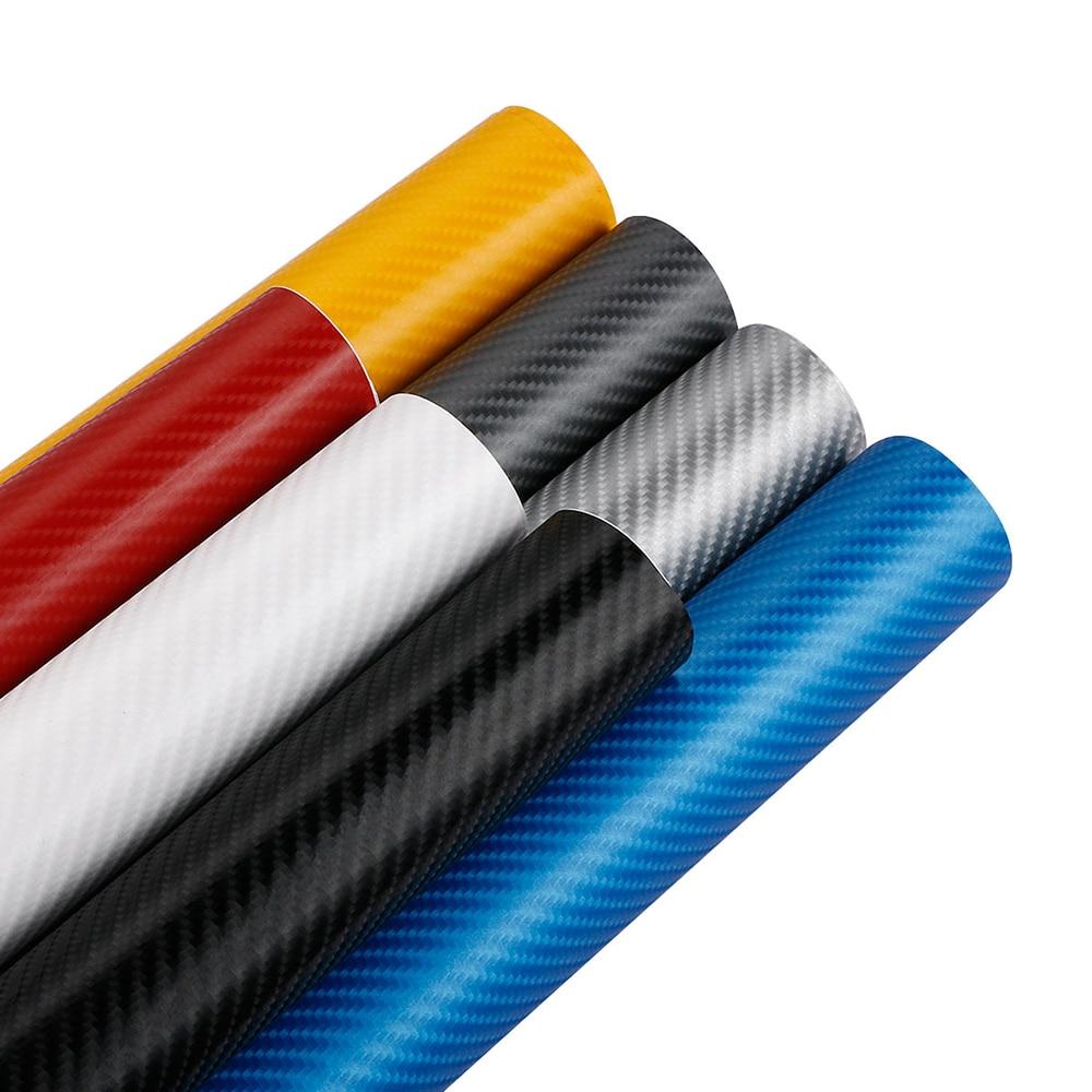 Pegatinas de Película de vinilo de fibra de carbono 4D para coche, envoltura de estilo de coche de 152cm x 10/30/50cm, bricolaje, impermeable