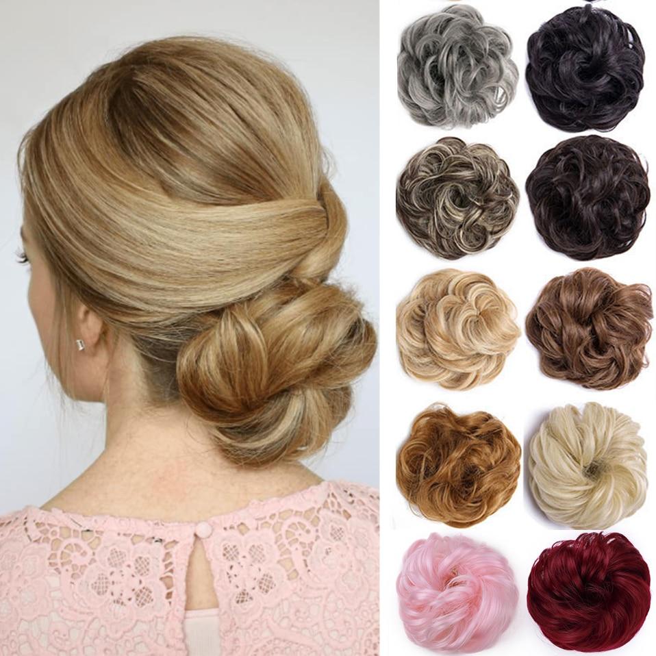 Синтетические шиньоны SNOILITE, шиньоны, удлинители волос, накладной хвост, хвост, шиньон для женщин