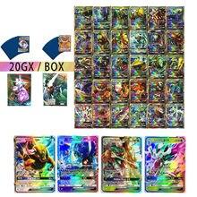 أرسلت في عشوائي 20 قطعة/الحزمة تاكارا تومي بوكيمون بطاقات VMAX GX EX ميجا الداعم صندوق الإنجليزية التداول بطاقة الألعاب الاطفال جمع اللعب