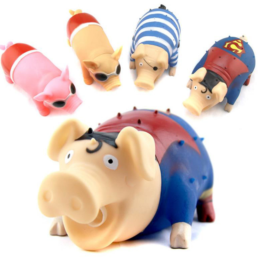 Novelty Screaming Vent Pig Decompression Toys Chew Sound Play Pig Adult Children Toy Squeaker Squeaky Pig Funny Pet Toy