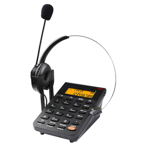 Image 1 - Corded Telephone with Headset & Dialpad, Caller ID, Computer Recording, Backlit, Adjustable Volume for House Call Center Office